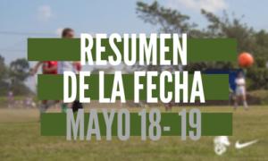 Resumen de la fecha Mayo 18 – 19