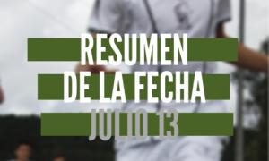 Resumen de la fecha Julio 13