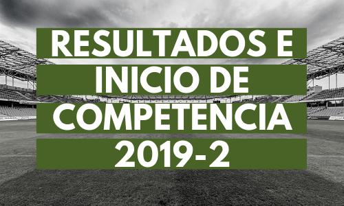 Resultados e inicio de competencia 2019-2